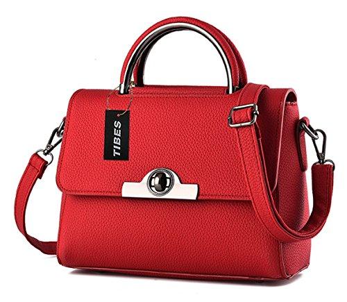 Tibes croix corps sac mignon sac à main petit sac à bandoulière femmes modernes Noir Vin Rouge