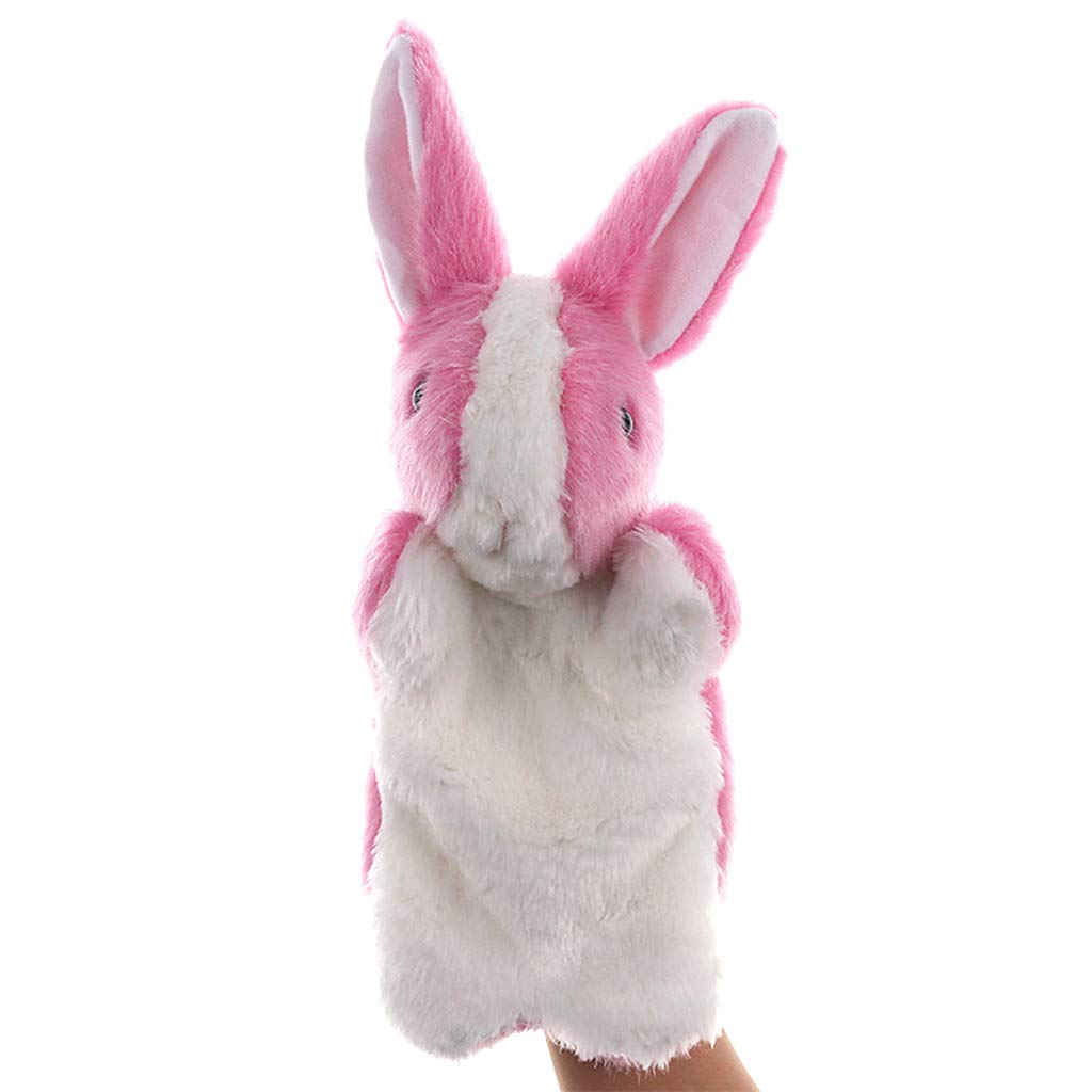 Mxixi peluche en peluche super doux lapin zoo animaux cadeau lièvre jouet enfants poupée cadeau d'anniversaire lapin main marionnette jouets éducatifs (Couleur 1)