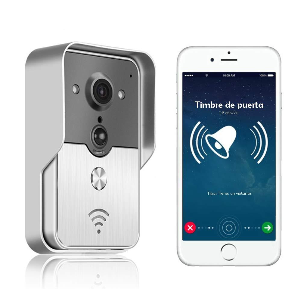 Nudito WIFI Video-Tü rsprechanlagen-Set Gegensprechanlage. Ü berwachungskamera mit Glockenspiel und Ü berwachungsfunktion. Regenschutz-Auß engerä t mit Nachtsicht.