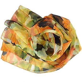 15c8554883d Foulard de soie imprimé rose des sables orange fabriqué en France ...