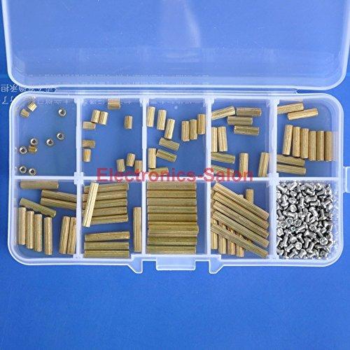 Standoff 3mm 5mm 8mm 10mm 12mm 15mm 18mm 20mm 25mm Screw M2 x 4mm. Electronics-Salon M2 Brass Female-Female Standoff Screw Nut Assortment Kit