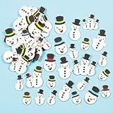 Adesivi in Schiuma Glitterati a forma di Pupazzo di Neve per Bambini, per Creazioni Fai Da Te di Natale (confezione da 80)