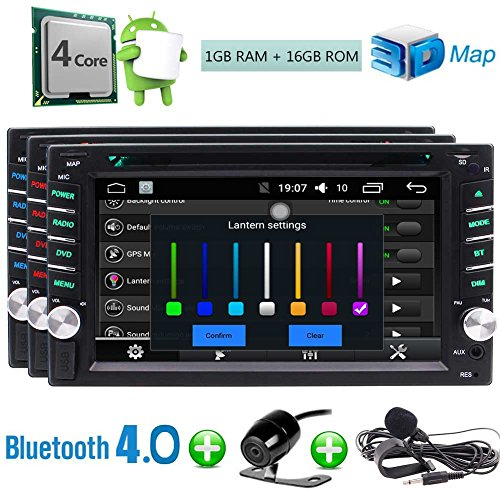 EinCar Backup Camera+Android 6.0 Car DVD Player Double 2 Din Car Stereo with Touch Screen 6.2'' in Dash GPS Navigation Auto Radio Support External Micro Bluetooth WiFi OBD2