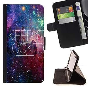 King Art - Premium-PU-Leder-Prima caja de la PU billetera de cuero con ranuras para tarjetas, efectivo Compartimiento desmontable y correa para la mu?eca FOR Sony Xperia M2 s50h Aqua- Keep it Locked Space