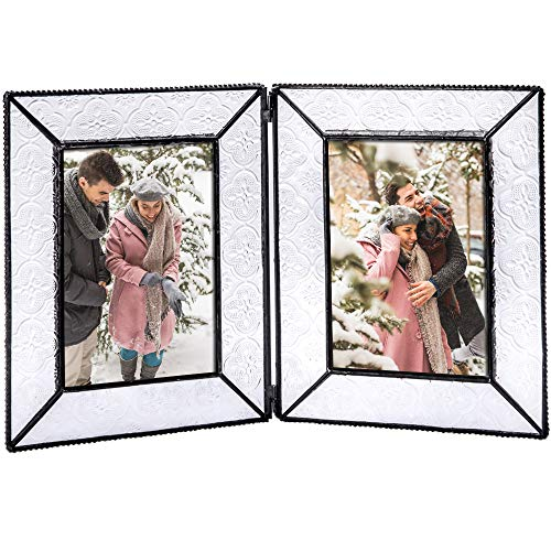 J Devlin Pic 126 Series Clear Vintage Stained Glass Picture Frame Assorted Sizes (4x6 Double)