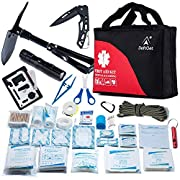 First Aid Kit Refill for Car Home Camping Travel Office Sports Gardening Mud Snow – Military Folding Shovel Survival…