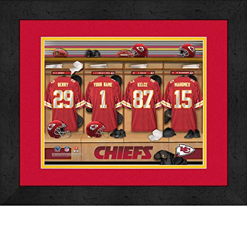Kansas City Chiefs Room Personalized Jersey Officially Licensed NFL Sports Photo 11 x 14 Print ()