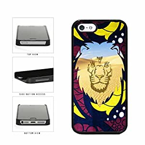 Lion King Of The Jungle Desert Scene Plastic Phone Case Back Cover Apple iPhone 5 5s comes with Security Tag and MyPhone Designs(TM) Cleaning Cloth