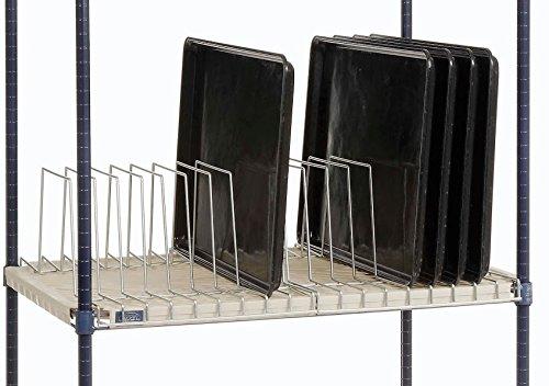 Nexel Tray Drying//Storage Rack 24W x 12L x 8/½H Clear Epoxy Finish