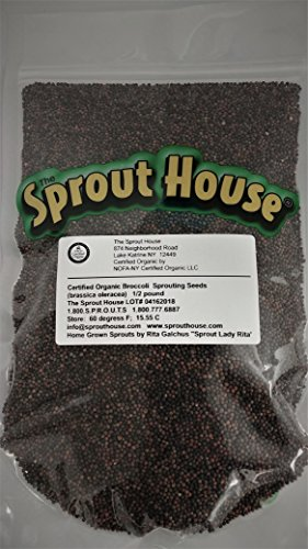 The Sprout House Broccoli Certified Organic Non-gmo Seeds for Sprouting