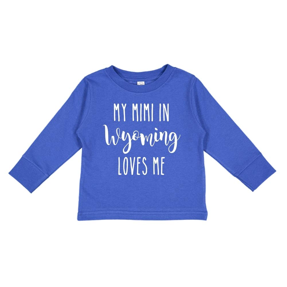 Toddler//Kids Long Sleeve T-Shirt My Mimi in Wyoming Loves Me