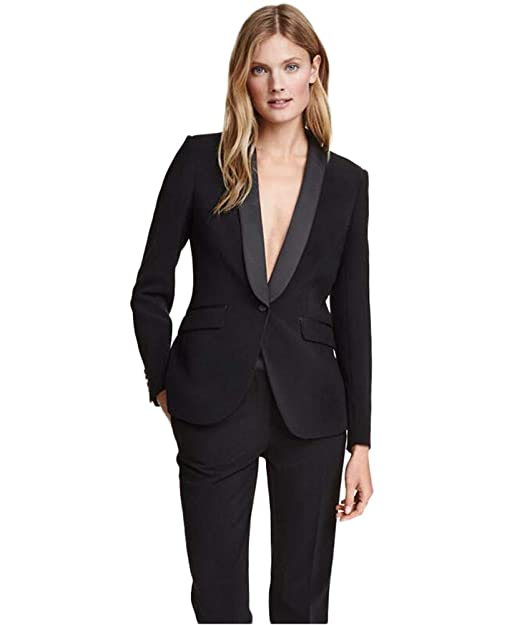 Amazon.com: TOPG Shawl Lapel Black Wedding Womens Suits 2 ...