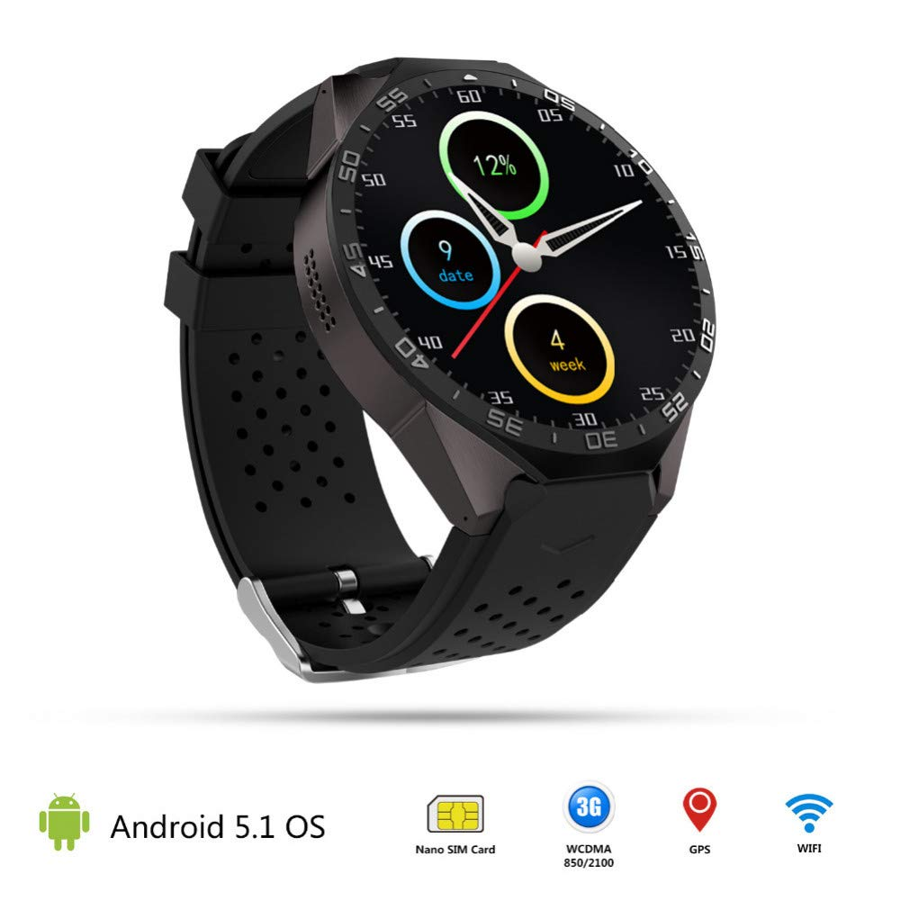 FJTYG GPS Smart Watch 3G WiFi 1.39 Pulgadas Smartwatch ...