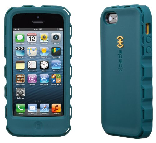 Speck Products SPK-A1861 ToughSkin Case with Belt Clip for iPhone 5  - Bayou Blue/Butternut Squash Orange