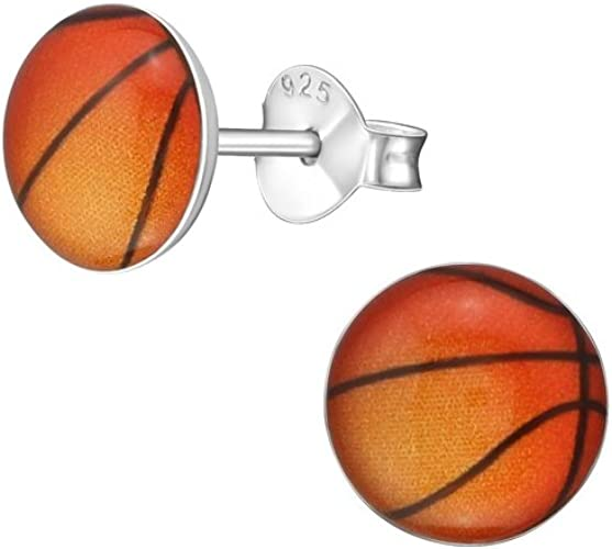 Polished And Nickel Free Liara Ball Ear Studs With Crystal Sterling Silver 925