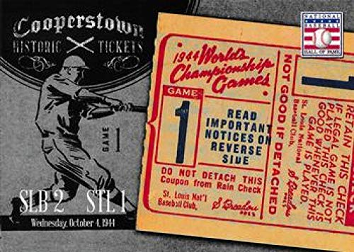 - 2013 Panini Cooperstown Historic Tickets #15 1944 World Series NM-MT