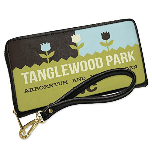 Wallet Clutch US Gardens Tanglewood Park Arboretum and Rose Garden - NC with Removable Wristlet Strap Neonblond