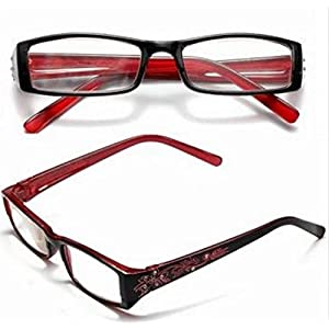 Red Female Diamond Flower Frame Presbyopic Reading Glasses Eyeglasses 3.0 by STCorps7