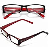 Red Female Diamond Flower Frame Presbyopic Reading Glasses Eyeglasses 3.0 by STCorps7
