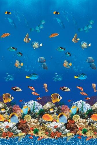 (Swimline Caribbean Tile Round Overlap Pool Liner Size: 15' W x 48