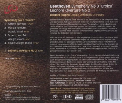 Beethoven: Symphony No 3 ''Eroica''; Leonore Overture No 2