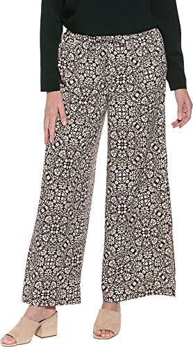 - Coolibar UPF 50+ Women's Petra Wide Leg Pant - Sun Protective (X-Large- Brown Isle Medallion)