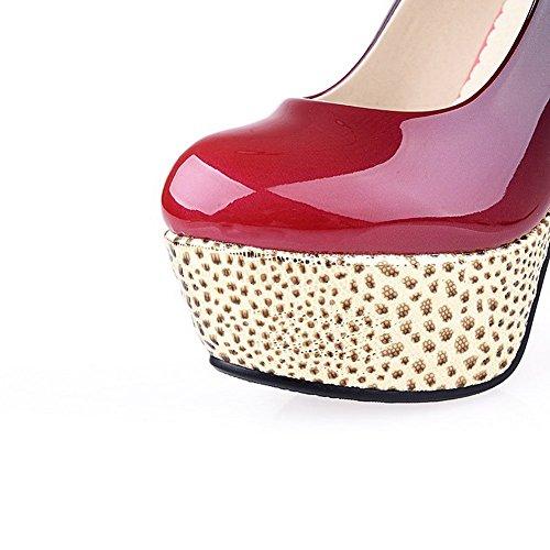 Balamasa Da Bambina Scava Fuori Modello Leopardo Scarpe Da Ginnastica In Vernice Di Colore Assortite Rosso