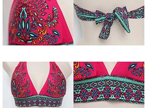 Pièces Bikini 2 De Push Rouge Femme Bain up Maillot qwf6xBITP