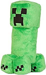 """JINX Minecraft Creeper Plush Stuffed Toy, Green, 10.5"""""""