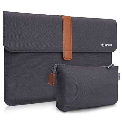 Tomtoc Canvas Laptop Sleeve Compatible with 13.3 inch MacBook Air | 13 inch MacBook Pro Retina 2012-2015 | Surface Laptop | HP Acer Asus Chromebook 13, Envelope Case with Accessory Pouch by Tomtoc