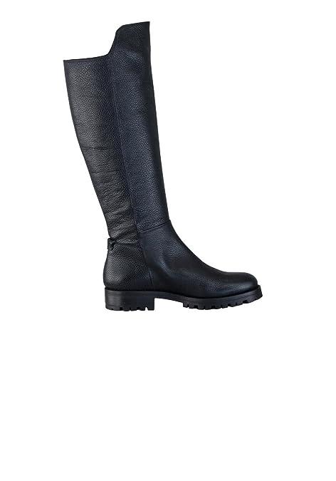 BOSS Hugo Stiefel ADEL Leder Reißverschluss Struktur Schwarz Größe 36.5 c6e42f4ceb