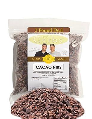Dark Chocolate Chips, Nibs, Powder, Chuncks by Gerbs - Top 10 Alllergen Free & Non GMO - Vegan - Kosher