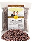 Cacao Nibs by Gerbs - 2 LBS - Top 11 Food Allergen Free & NON GMO - Product of Peru - Vegan & Kosher (Cocoa Nibs, 02 LBS.)