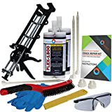 Concrete Floor Crack Repair Kit - Low Viscosity Polyurethane - FLEXKIT-1300-20