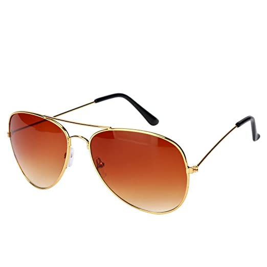 f678ee1c8 Image Unavailable. Image not available for. Color: iNoDoZ Oversized Aviator  Sunglasses Mirrored Flat Lens for Men Women UV400 Metal Frame Vintage
