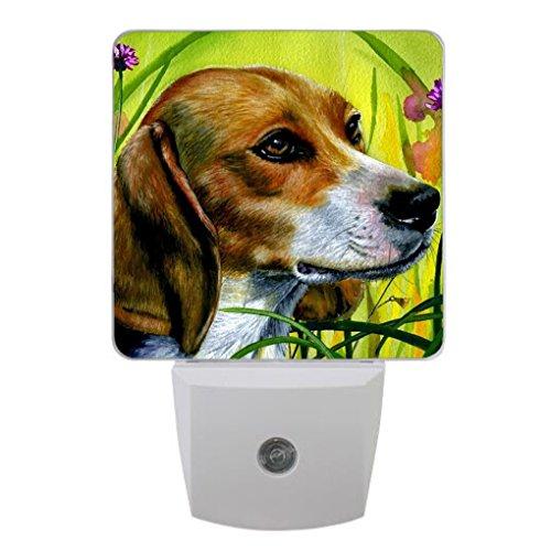 Coolstuffs Beagle LED Night Light with Sensor Plug-in Wall Night Lamp for Children Bedroom Hallway