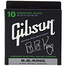 Gibson Gear BB King Nickel Plated Electric Guitar Strings, Extra Heavy