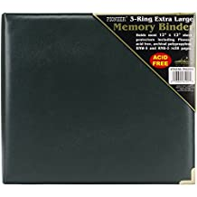 Pioneer Photo Albums 12 x 12-Inch 3-Ring Sewn Oxford Cover Scrapbook Binder, Green