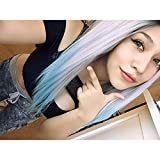 Heahair® Ombre Blue Straight Handtied Synthetic Lace Front Wig Hs0007