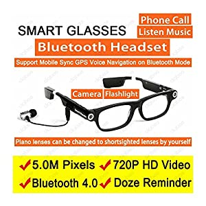 Fashion Sport Wireless Bluetooth Headset Smart Glasses Sunglasses Camera HD 720P Video Recorder 32GB Car DVR Camcorder