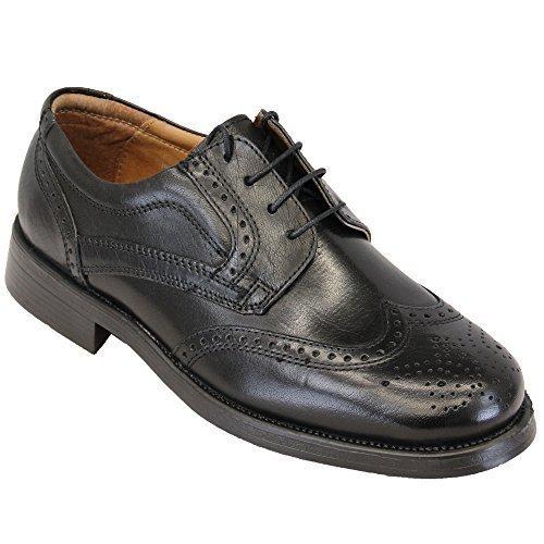 Hommes Bottes Cuir Chaussures Richelieu À Lacets Habillé Décontracté Oaktrak Créateur Mode Noir - PINEHAM H7Gm01f