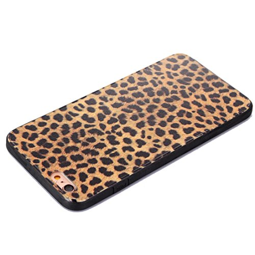 Phone Taschen & Schalen Für iPhone 6 Plus & 6s Plus Leopard Pattern TPU Rahmen + PC Back Cover Schutzhülle ( SKU : IP6P2222B )