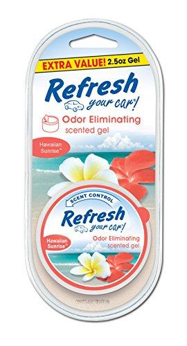 Refresh Your Car! E301458700 Scented Gel Can, 2.5 oz, Hawaiian Sunrise