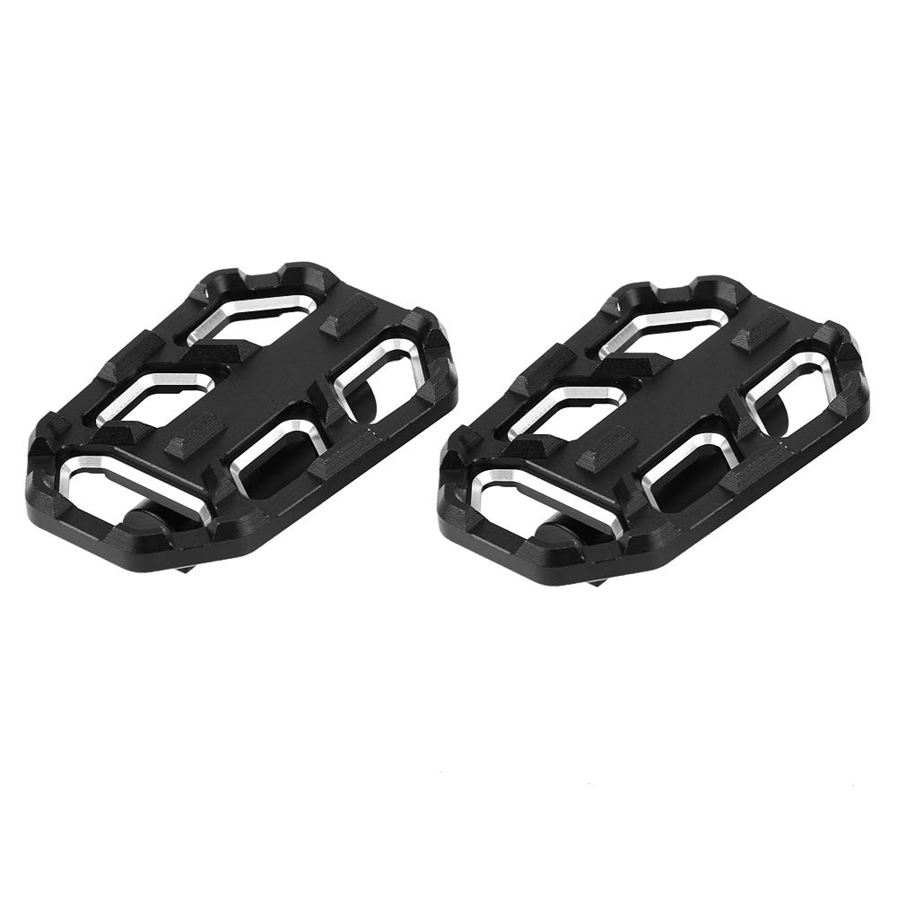 Black KIMISS 1 Pair Aluminum Alloy Motorcycle Billet Wide Foot Pegs Pedals Rest Footpegs for G310R G310GS R1200GS LC S1000XR