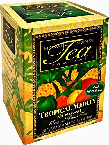 (Tropical Medley Black Tea, All Natural, 20 Teabags, Blended and Packed in)
