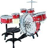 Instrumento de percusión para ninos - Bateria Percusion para ninos - Kit de batería de 9 piezas - Red