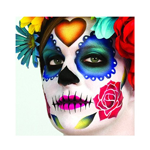 Dinair Airbrush Makeup - Day of the Dead Stencil (31 Days Of Halloween Makeup)