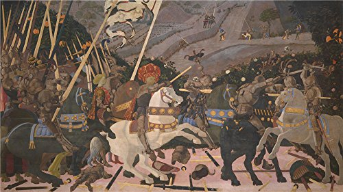 Oil Painting 'Paolo Uccello The Battle Of San Romano ' Printing On Polyster Canvas , 12 X 21 Inch / 30 X 54 Cm ,the Best Gift For Bf And Gf And Home Decoration And Gifts Is This High Resolution Art Decorative Canvas Prints