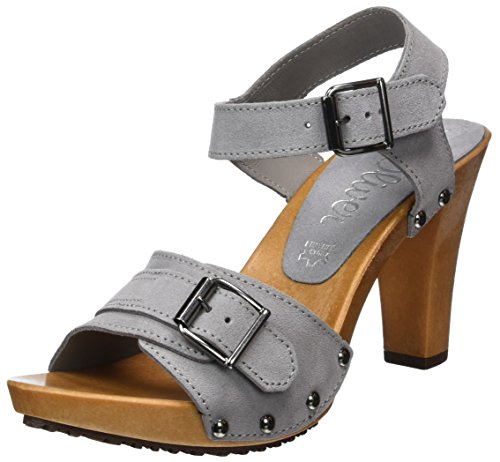 s.Oliver Women's 28301 Wedge Heels Sandals Grey (Grey 200) d1RRtNN5pC