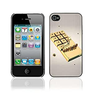 Colorful Printed Hard Protective Back Case Cover Shell Skin for Apple iPhone 4 / 4S ( Gold Chocolate )